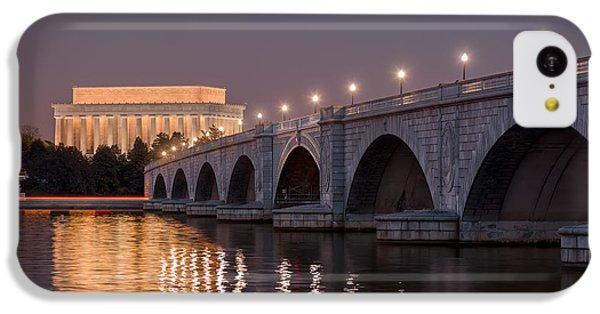 Lincoln Memorial iPhone 5c Case - Arlington Memorial Bridge by Eduard Moldoveanu