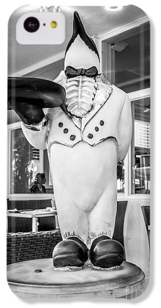Art Deco Penguin Waiter South Beach Miami - Black And White IPhone 5c Case by Ian Monk