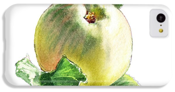IPhone 5c Case featuring the painting Artz Vitamins Series A Happy Green Apple by Irina Sztukowski