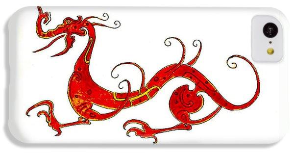 Dragon iPhone 5c Case - Asian Dragon by Michael Vigliotti