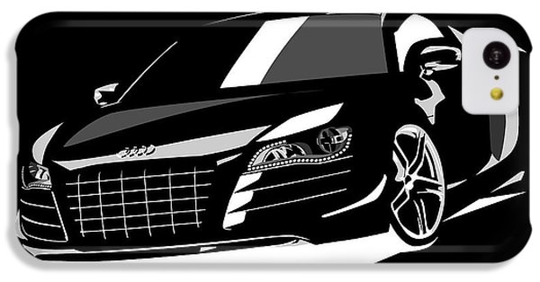 Car iPhone 5c Case - Audi R8 by Michael Tompsett