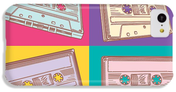Sound iPhone 5c Case - Audio Cassettes by Alex bond