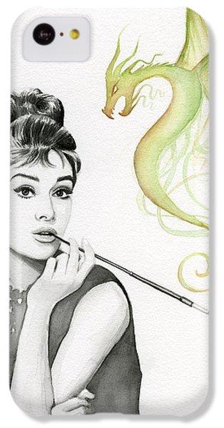 Dragon iPhone 5c Case - Audrey And Her Magic Dragon by Olga Shvartsur
