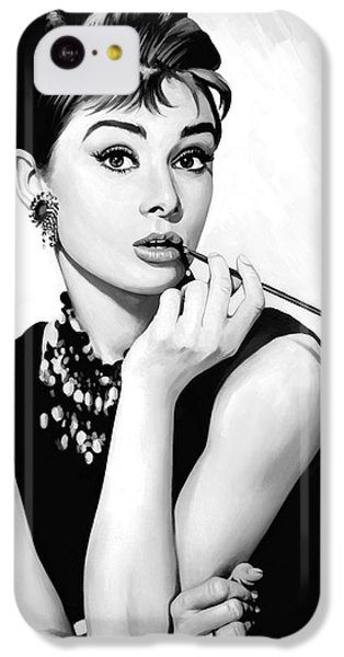 Audrey Hepburn Artwork IPhone 5c Case by Sheraz A