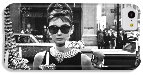 Audrey Hepburn Breakfast At Tiffany's IPhone 5c Case by Georgia Fowler