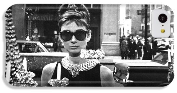 Audrey Hepburn Breakfast At Tiffany's IPhone 5c Case by Georgia Fowler