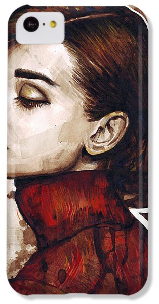 Audrey Hepburn IPhone 5c Case by Olga Shvartsur