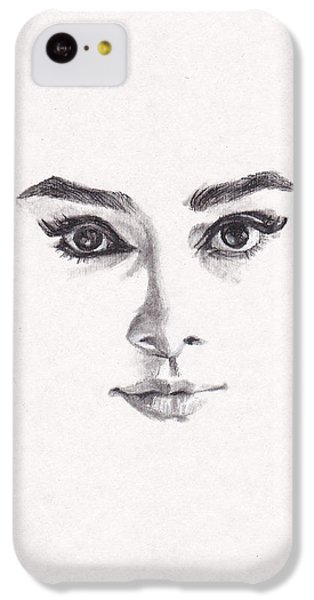 Audrey IPhone 5c Case by Lee Ann Shepard