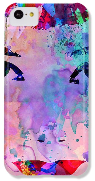 Audrey Watercolor IPhone 5c Case by Naxart Studio