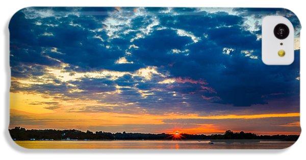 August Sunset Over Lake Nagawicka IPhone 5c Case by Randy Scherkenbach