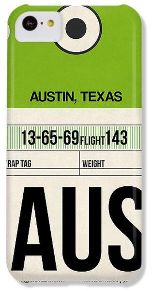 Universities iPhone 5c Case - Austin Airport Poster 1 by Naxart Studio