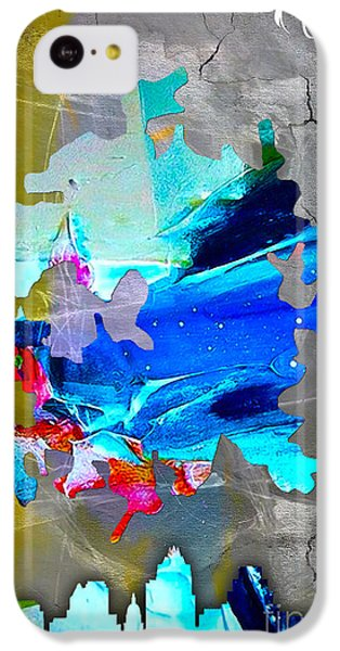 Austin Map And Skyline Watercolor IPhone 5c Case