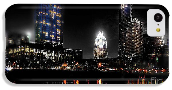 Austin Night Skyline Reflections  IPhone 5c Case by Gary Gibich