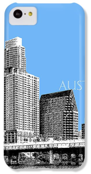 Austin Skyline - Sky Blue IPhone 5c Case by DB Artist