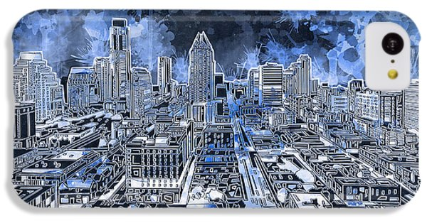 Austin Texas Abstract Panorama 5 IPhone 5c Case