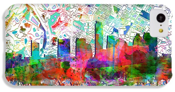 Austin Texas Abstract Panorama 7 IPhone 5c Case
