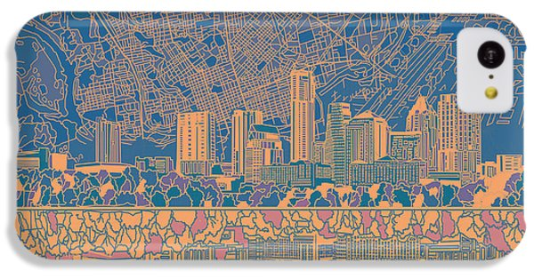 Austin Texas Skyline 2 IPhone 5c Case