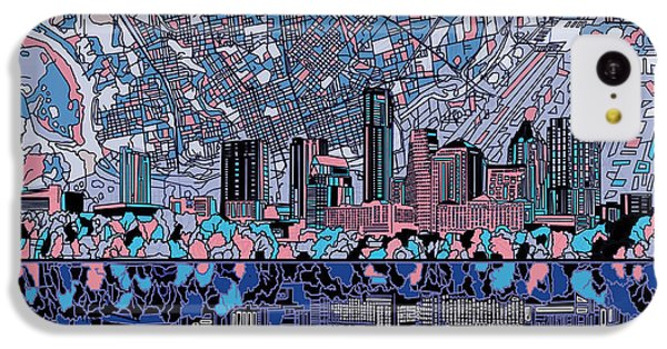 Austin Texas Skyline 3 IPhone 5c Case