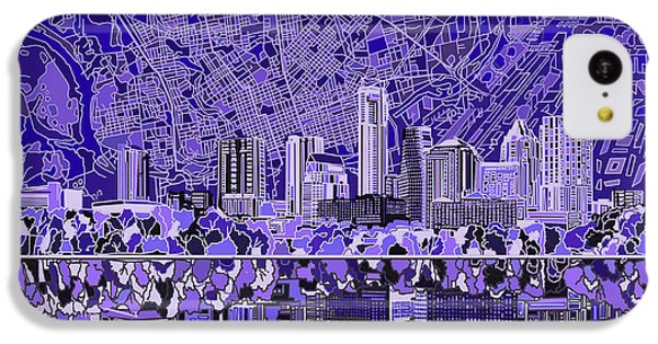 Austin Texas Skyline 4 IPhone 5c Case