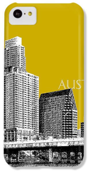 Austin Texas Skyline - Gold IPhone 5c Case by DB Artist