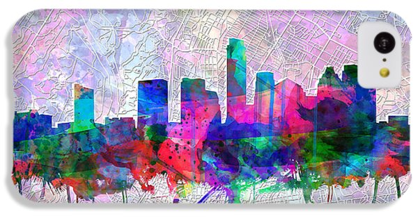 Austin Texas Skyline Watercolor 2 IPhone 5c Case