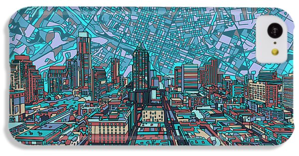 Austin Texas Vintage Panorama 4 IPhone 5c Case