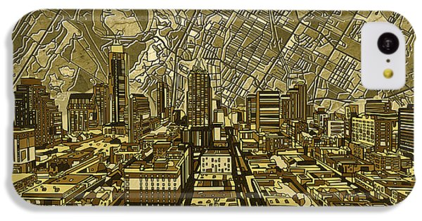 Austin Texas Vintage Panorama IPhone 5c Case