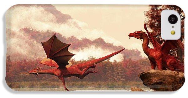 Dungeon iPhone 5c Case - Autumn Dragons by Daniel Eskridge