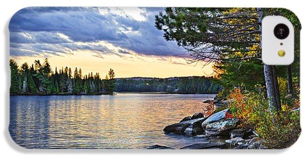 Beautiful Sunrise iPhone 5c Case - Autumn Sunset At Lake by Elena Elisseeva