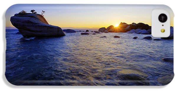 Beach Sunset iPhone 5c Case - Awaiting by Chad Dutson