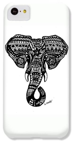 Aztec Elephant Head IPhone 5c Case by Loren Hill