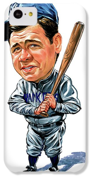 Babe Ruth IPhone 5c Case by Art