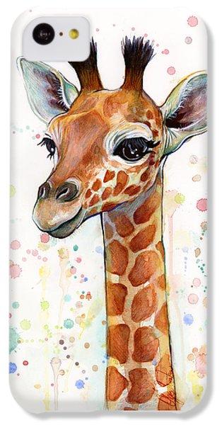 Baby Giraffe Watercolor  IPhone 5c Case