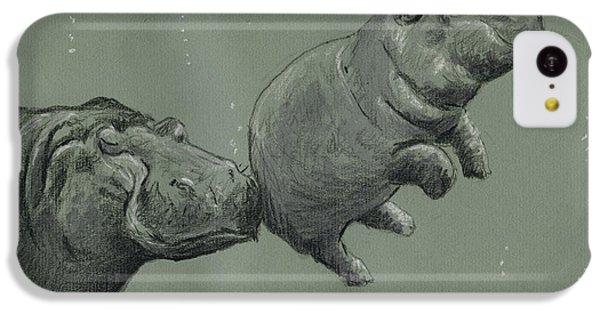 Hippopotamus iPhone 5c Case - Baby Hippo by Juan  Bosco