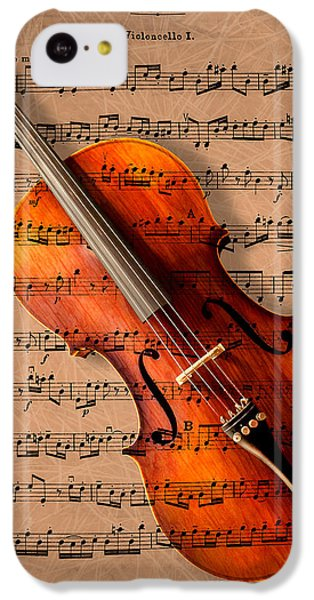 Violin iPhone 5c Case - Bach On Cello by Sheryl Cox