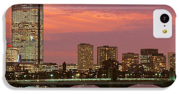 City Sunset iPhone 5c Case - Back Bay, Boston, Massachusetts, Usa by Panoramic Images