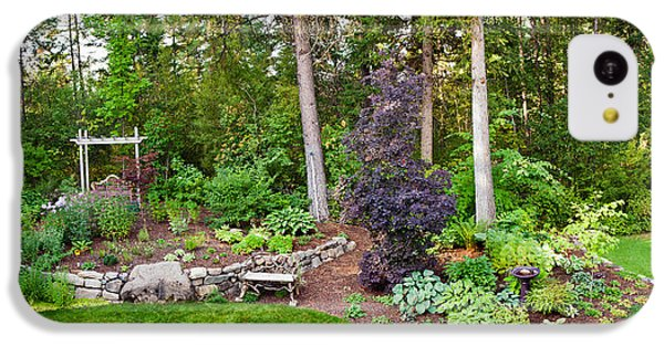 Loon iPhone 5c Case - Backyard Garden In Loon Lake, Spokane by Panoramic Images
