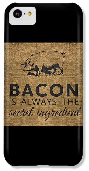 Rural Scenes iPhone 5c Case - Bacon Is Always The Secret Ingredient by Nancy Ingersoll