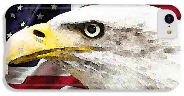Bald Eagle Art - Old Glory - American Flag IPhone 5c Case by Sharon Cummings