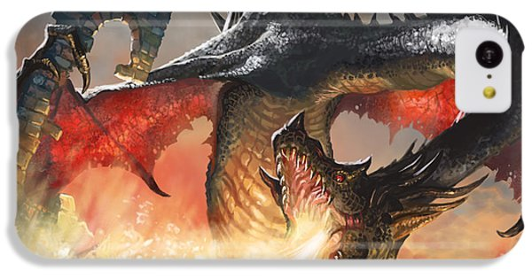 Fantasy iPhone 5c Case - Balerion The Black by Ryan Barger