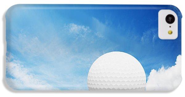 Ball On Tee On Green Golf Field IPhone 5c Case by Michal Bednarek