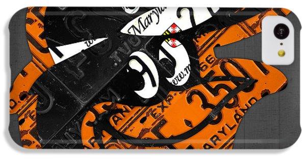 Baltimore Orioles Vintage Baseball Logo License Plate Art IPhone 5c Case by Design Turnpike