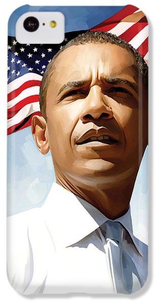 Barack Obama Artwork 1 IPhone 5c Case by Sheraz A