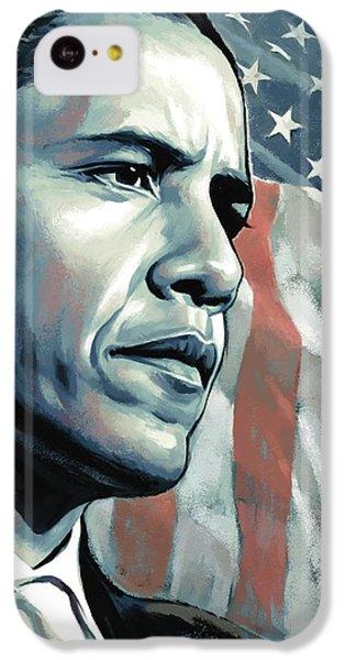 Barack Obama Artwork 2 B IPhone 5c Case by Sheraz A