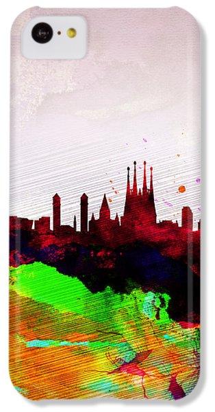 Barcelona Watercolor Skyline IPhone 5c Case by Naxart Studio