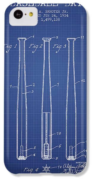 Baseball Bat Patent From 1924 - Blueprint IPhone 5c Case by Aged Pixel