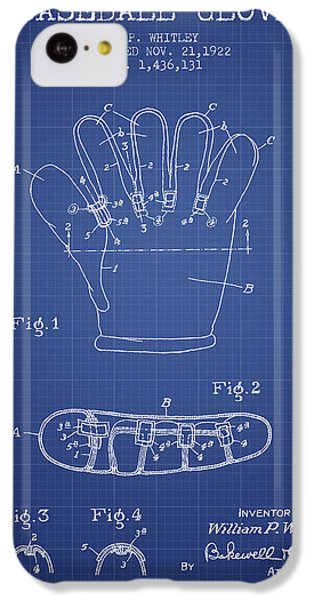 Baseball Glove Patent From 1922 - Blueprint IPhone 5c Case by Aged Pixel