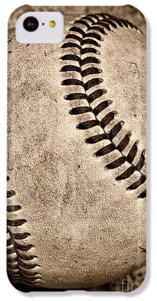 Baseball Old And Worn IPhone 5c Case by Paul Ward