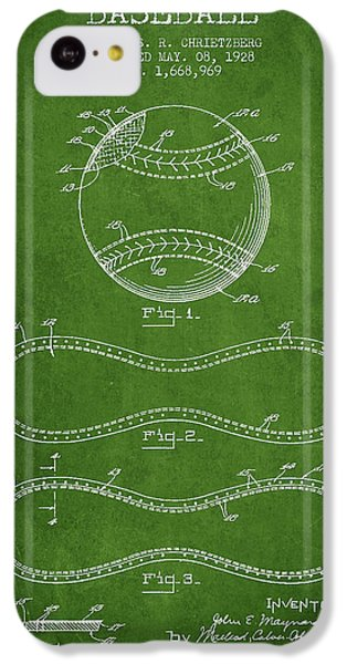 Baseball Patent Drawing From 1928 IPhone 5c Case by Aged Pixel