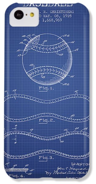Baseball Patent From 1928 - Blueprint IPhone 5c Case by Aged Pixel